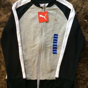 Puma Boys Midweight Track Jacket Size 10/12 NWT